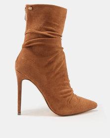 Miss Black Allegra Shuffle Boots Tan