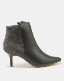 Miss Black Becca Kitten Boots Grey