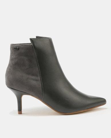 Miss Black Becca Kitten Boots Grey
