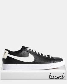 Nike Blazer Low Leather Sneakers Black