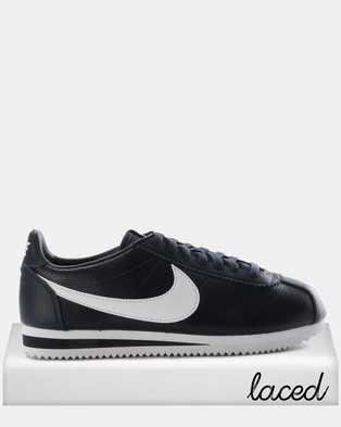 43093d43594 Nike Classic Cortez Leather Sneakers Midnight Navy White
