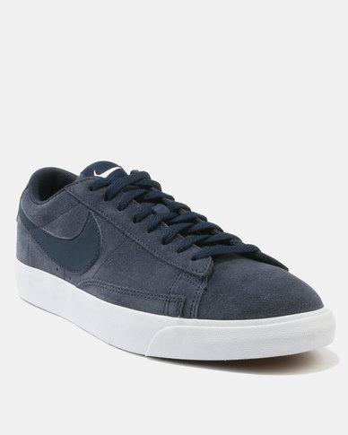 Nike Blazer Low Suede Sneakers Obsidian  ee7837808a