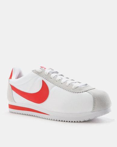 cheap for discount 60757 6272f Nike Classic Cortez Nylon Sneakers White Habanero Red   Zando