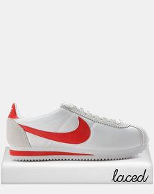 Inexpensive 232830 Nike Classic Cortez Nylon Men Red White Blue Shoes