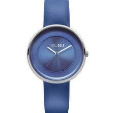 Tick & Ogle Ladies Watch Solid Leather Blue