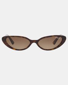 Vogue Gradient Sunglasses Brown