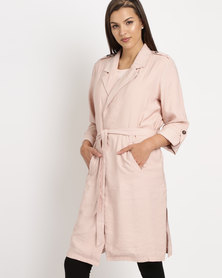 Elm Tilly Trench Coat Pink