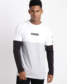 St Goliath Oban Long Sleeve T-Shirt White/Black