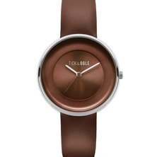 Tick & Ogle Ladies Watch Solid Leather Brown