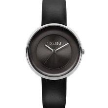 Tick & Ogle Ladies Watch Solid Leather Black