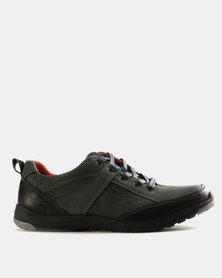 Grasshoppers Hicks Leather Lace Ups Navy