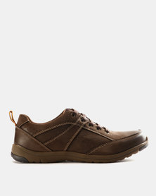 Grasshoppers Hicks Leather Lace Ups Coffee