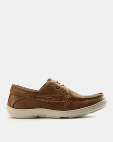 Grasshoppers Chester Leather Lace Ups Brown