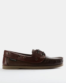 Grasshoppers Freeport Leather Lace Ups Burgundy/Brown
