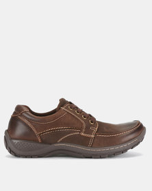Grasshoppers Mac Leather Lace Ups Coffee