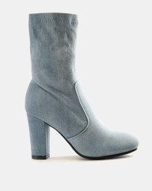 PLUM Denim Ankle Boots Blue