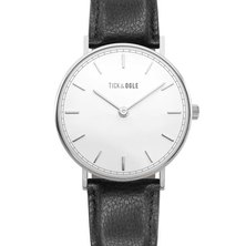 Tick & Ogle Mens Watch Herman Leather White/Black