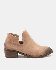 Dolce Vita Laredo-702 Leather Ankle Boots Rust