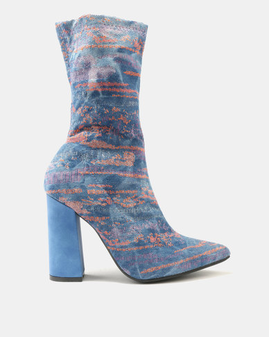 Dolce Vita Budapest Ankle Boots Light Blue