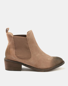 Dolce Vita Laredo-703 Leather Ankle Boots Rust