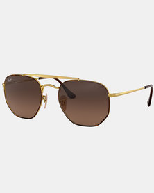 Ray-Ban Hexagonal Sunglasses Gold-tone With Green Lenses