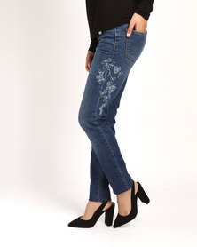 Soviet Rip & Repair Skinny Jeans Indigo