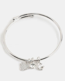 Guess Hoops Silver Bangle Silver