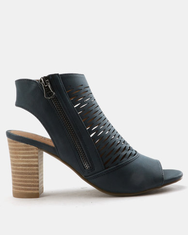 low price online SOA SOA Samantha Block Heel Peep Toe Shoes Navy clearance visit new zOAfsJPZHk
