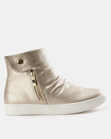 outlet 2014 new cheap store SOA SOA Kiki High Top Slip On Sneakers Champagne many kinds of cheap online cheap Inexpensive viUramB4As