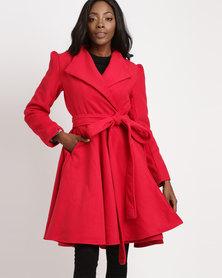 Jozsy Pau Dress Coat Red