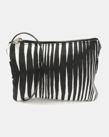 MARADADHI TEXTILES Zebra Purse With Sling Leather Side Black