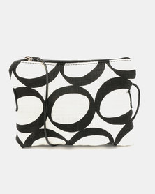 MARADADHI TEXTILES Lucky Bean Purse with Sling Leather Side Black