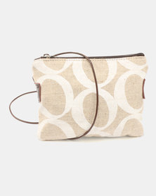 MARADADHI TEXTILES Lucky Bean Purse with Sling Leather Side White