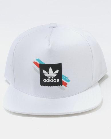 watch 56316 3d32a adidas Courtside Snapback Cap White   Zando