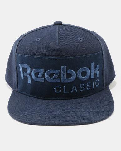 2c3665fd7b6 Reebok Classic Foundation Cap Navy