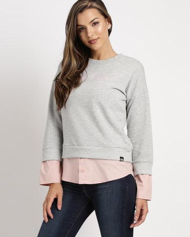 ECKÓ Unltd Peep Out Sweater Grey/Pink