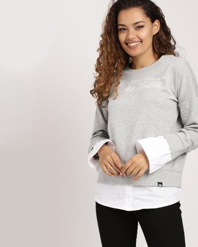 ECKÓ Unltd Peep Out Sweater Grey