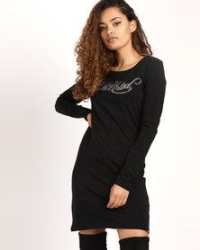 ECKÓ Unltd Jamie Long-sleeve Dress Black