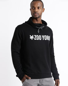 Zoo York Pull Over Snood Hoodie Black