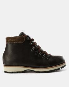 Newport Var001 Lace Up Ankle Boots Choc Tempest/Choc Suede