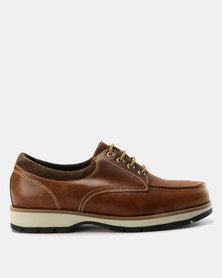 New Port Var002 Lace Up Suede Shoe Brown Carvano/Choc/Beige