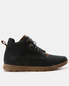 New Port Var003 Lace Up Ankle Boot Marine Buffburn/Brown Carvano