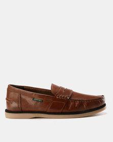 New Port Var002 Slip On Shoe Mid-Brown Santiago