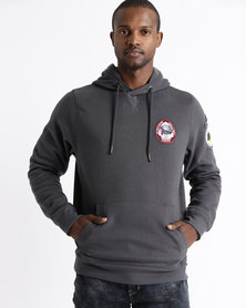 Tokyo Laundry Pawwood Pullover Hoodie Grey