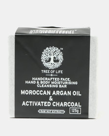 Tree of Life Natural Argan Oil & Activated Charcoal Face, Hand And Body Soap Bar
