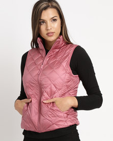 G Couture Sleeveless Jacket Pink