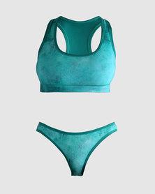 Vivolicious Turq Active Bikini Set Turquoise