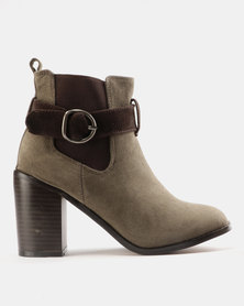 Jeep Alk Heeled Ankle Boots Olive