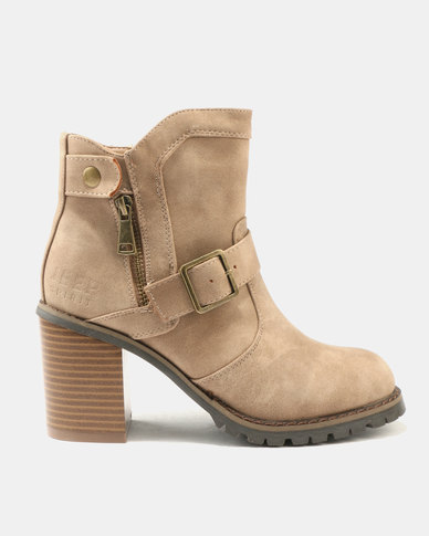 view cheap online countdown package online Jeep Jeep Panda Heeled Ankle Boots Beige yKW2w