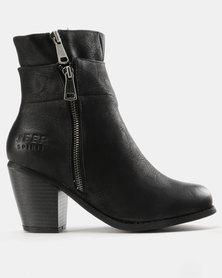 Jeep Lama Heeled Ankle Boots Black